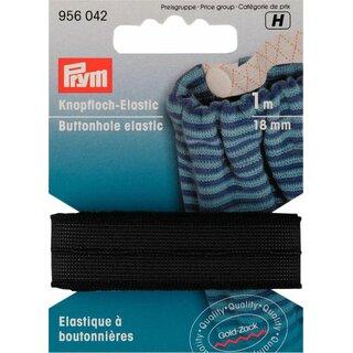 Veloursband 15mm schwarz 1m 956005 Prym Knopfloch-Elastic