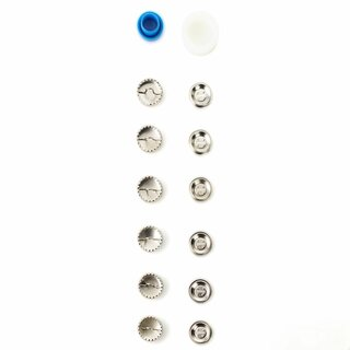 Prym Cover Buttons brass 15 mm silver col (6 pcs)