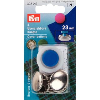 Prym Cover Buttons brass 23 mm silver col (4 pcs)