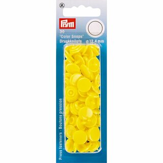 Prym Non-sew ColorSnaps 12.4 mm light yellow (30 pcs)