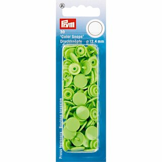 Prym Non-sew ColorSnaps 12.4 mm apple green (30 pcs)