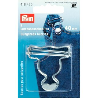 Prym Dungarees buckles brass 40 mm silver col (2 pcs)