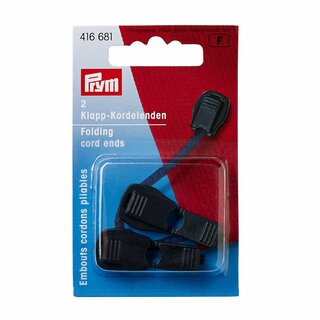 Prym Folding Cord Ends plastic black (2 pcs)