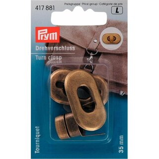 Prym Turn clasp for bags antique brass (1 pcs)