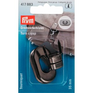 Prym Turn clasp for bags antique silver (1 pcs)