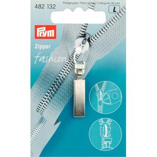 Prym Fashion Zipper pullers Classic metal silver col matt (1 pcs)