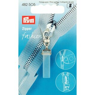 Prym Fashion Zipper puller Crystal plastic/metal transparent matt (1 pcs)
