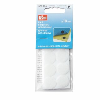 Prym Spot-ons self-adhesive white (8 pair)