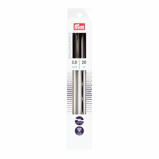 Prym Double-pointed knitting pins Ergonomics 20 cm 3.00 mm (5 pcs)
