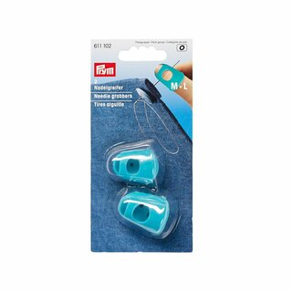 Prym Needle grabbers silicone turquoise M + L (2 pcs)