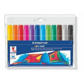 Staedtler Noris Club® 340 Jumbo Fasermaler Etui with (12 pcs)