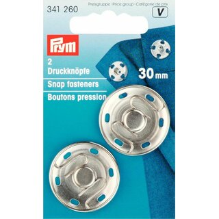 Prym Sew-On Snap Fasteners Brass 30 mm