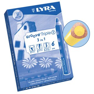 Lyra Groove Triple I lemon yellow (6 pieces)