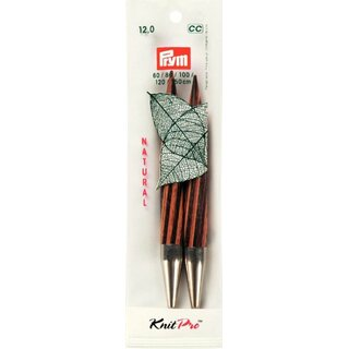 Prym Knitting pin points long NATURAL 12.8 cm 12.00 mm multi col (2 pcs)