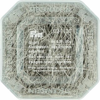 Prym Straight Pins 6 SF 0.50 x 30 mm silver col (50 g)
