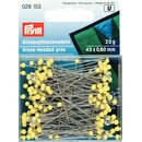 Prym Glass-headed Pins No. 1 extra long yellow 0.60 x 43...