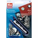 Prym Eyelets and Washers brass  8.0 mm silver col (24 pcs)