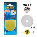 Olfa replacement blade 45 mm (RB45-10) (10 pieces)